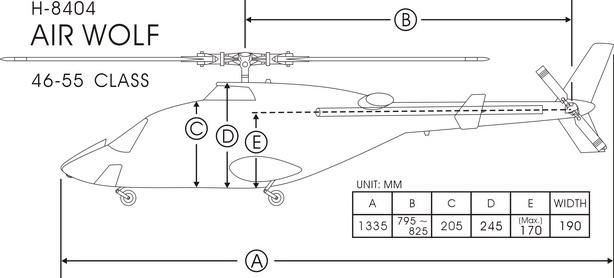 H-8404 Airwolf-Funkey Aeroplane Models